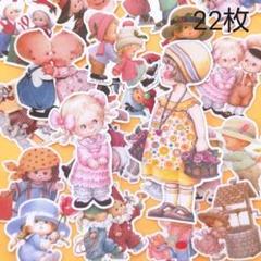 """Thumbnail of """"海外ステッカー レトロガール 22枚 シール"""""""