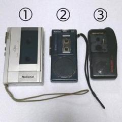 """Thumbnail of """"レトロ カセットテープレコーダー マイクロカセットレコーダー ジャンク品"""""""