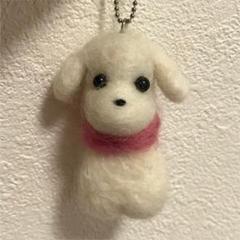 "Thumbnail of ""羊毛フェルト ハンドメイド 犬 ストラップ トイプードル ハンドメイド作品"""