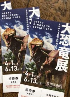 "Thumbnail of ""佐川美術館 大恐竜展 入場券2枚"""