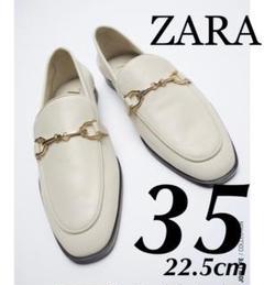 "Thumbnail of ""今季完売 ZARA 新品 バックル付きレザーモカシン 22.5"""