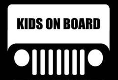 """Thumbnail of """"Jeep KIDS ON BOARD ステッカー"""""""