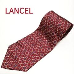 "Thumbnail of ""【日本製】LANCEL(ランセル) メンズネクタイ 赤 えんじ色 総柄"""