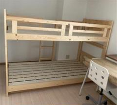 "Thumbnail of ""二段ベッド&デスク&IKEA椅子二脚セット 中古 広島引取限定"""