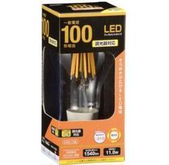 """Thumbnail of """"新品未使用 LED電球 オーム電機 E26 100v クリア 電球色 調光器対応"""""""