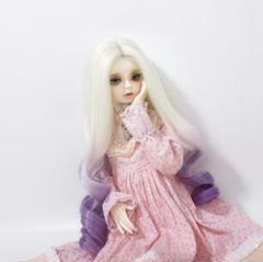 "Thumbnail of ""DW141紫 人形 ドール用ウィッグ 髪 耐熱 100℃ 高温ウィッグ 5"""