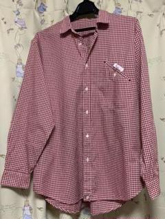 PaPas 赤チェックシャツ Mサイズ