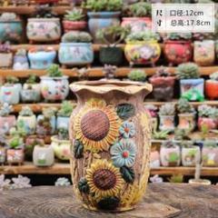 "Thumbnail of ""36 植木鉢 陶器 多肉植物 寄せ植え 40種類からデザイン・カラー変更可能!"""