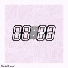 """Thumbnail of """"フォトジェニックな3D立体時計〔黒ぶち白ライト〕"""""""