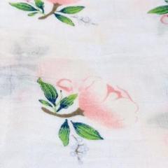 "Thumbnail of ""Tピンク花おくるみブランケット出産準備授乳ケープベビー布団バスガーゼオムツ替え"""