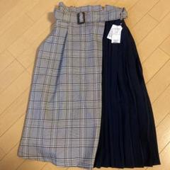 "Thumbnail of ""チェック×プリーツ 切り替えスカート フリーサイズ"""
