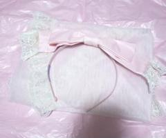 "Thumbnail of ""Angelic Pretty Ribbonベールカチューシャ"""