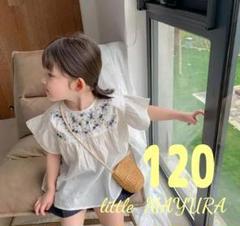 """Thumbnail of """"新品 刺繍 入り チュニック ワンピース 120 ホワイト 白 韓国 人気"""""""