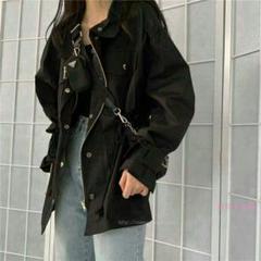 """Thumbnail of """"新Zフルーティー韓国はハンサムな長袖のジャケット潮を冷却シックな緩いフロ+I1"""""""