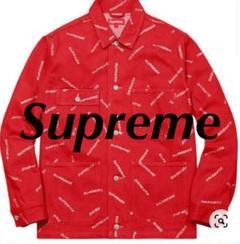 "Thumbnail of ""Supreme Denim Logo Chore Coat 17ss"""