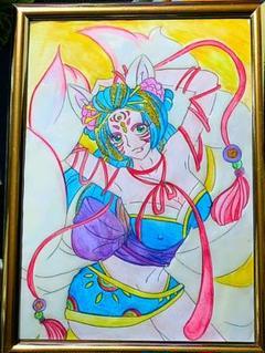 """Thumbnail of """"『うるは九尾の狐コスプレオリジナルキャラ絵画      手描きイラストアート"""""""