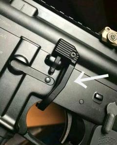 """Thumbnail of """"M4  M16  ボルトストップ  エクステンションレバー"""""""