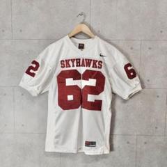 "Thumbnail of ""90s Nike ゲームシャツ ""SKYHAWKS"" ホワイト 刺繍 アメフト"""
