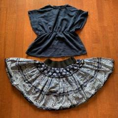 "Thumbnail of ""セレクトショップで購入★プリントスカート+GUカットソー 150cm"""