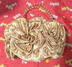 "Thumbnail of ""結婚式♪パーティに最適♪【バラ型模様&ビーズ持ち手のかわいいバッグ】"""