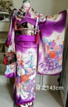 """Thumbnail of """"紫色に孔雀やボタンがゴージャス☆女のこの着物セット"""""""