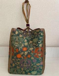 "Thumbnail of ""金糸 巾着 バッグ 和装鞄 和装小物 和装巾着"""