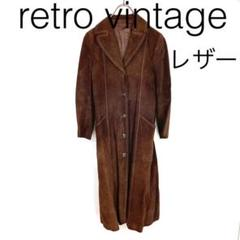 "Thumbnail of ""W2026*vintage ロングレザーコート 茶ブラウン 11"""
