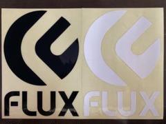 """Thumbnail of """"FLUX ダイカットステッカー(黒)(白)2枚セット"""""""