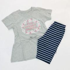 "Thumbnail of ""子供服 新品 女の子 130cm 半袖 上下セット セットアップ ST3-3"""