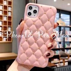 "Thumbnail of ""【ピンク】訳あり iPhone12 Pro Max キルティング エナメル"""