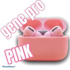 gene pro ワイヤレス Bluetooth イヤホン マイク付き ピンク