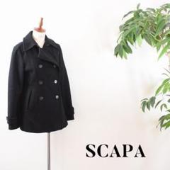 "Thumbnail of ""C5161 SCAPA ピーコート ハーフコート ネイビー 38"""