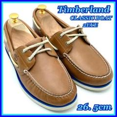 "Thumbnail of ""Timberland デッキシューズ ライトブラウン 本革 26.5 レザー 茶"""