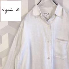 """Thumbnail of """"【アニエスベー】希少 麻リネン100% フランス製 シャツ 白 agnes b"""""""