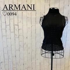 """Thumbnail of """"ハイネック ベスト ARMANI ブラック 透け感 レディース サイズ40"""""""
