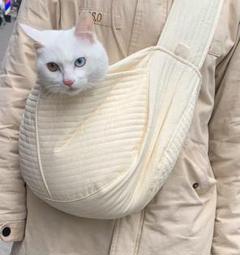 """Thumbnail of """"ショルダーバッグ ペット用キャリーバッグ 犬猫兼用 お出掛け 斜め掛け スリング"""""""