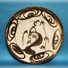 """Thumbnail of """"456『瀬戸 柳 馬の目文様 皿』  /骨董品 茶道具 古道具 古美術 古玩"""""""