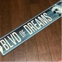 """Thumbnail of """"BLVD OF DREAMS ジェームス・ディーン ブリキ看板600×125"""""""