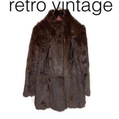 "Thumbnail of ""W2813*Vintage ラビットファーコート 茶ブラウン M"""