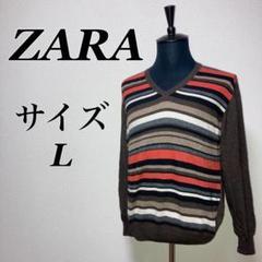 "Thumbnail of ""a0473【ZARA】薄手ニット セーター Vネック 大きいサイズ ビック"""