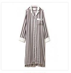 "Thumbnail of ""【Joel Robuchon】ストライプサテンシャツドレス"""