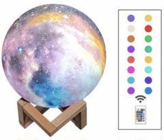 "Thumbnail of ""3D 惑星 ライト 間接 照明 銀河 USB 充電 リモコン タッチ 16色"""