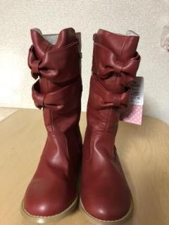 """Thumbnail of """"少々訳あり 格安 シャーリーテンプル リボンブーツ 可愛い女の子靴 21 レッド"""""""