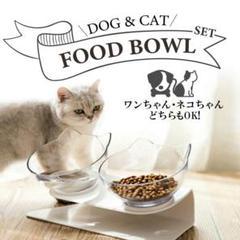 "Thumbnail of ""犬猫兼用フードボウル 2匹分 餌入れ エサ入れ おやつ ペット"""