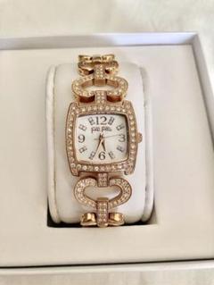 【ほぼ未使用】Folli Follieピンクゴールド腕時計(箱付き)長さ調整可能