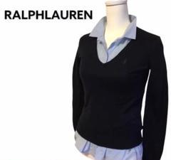 "Thumbnail of ""【Ralph Lauren】綿 100%Vネック セーター 刺繍ロゴ入"""