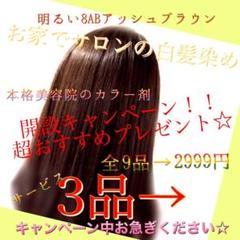"Thumbnail of ""お家で本格サロンの白髪染め(明るい8ABアッシュブラウン1回分)"""