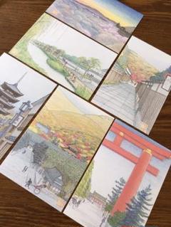 "Thumbnail of ""京都 ⭐️絵画ポストカード⭐️6枚セット 高博士"""