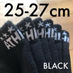 "Thumbnail of ""3足組ATHLETAアスレタ25-27cmアンクルソックス05240靴下ブラック"""