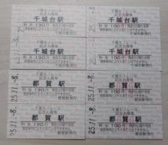 千葉都市モノレール25周年記念硬券8枚
